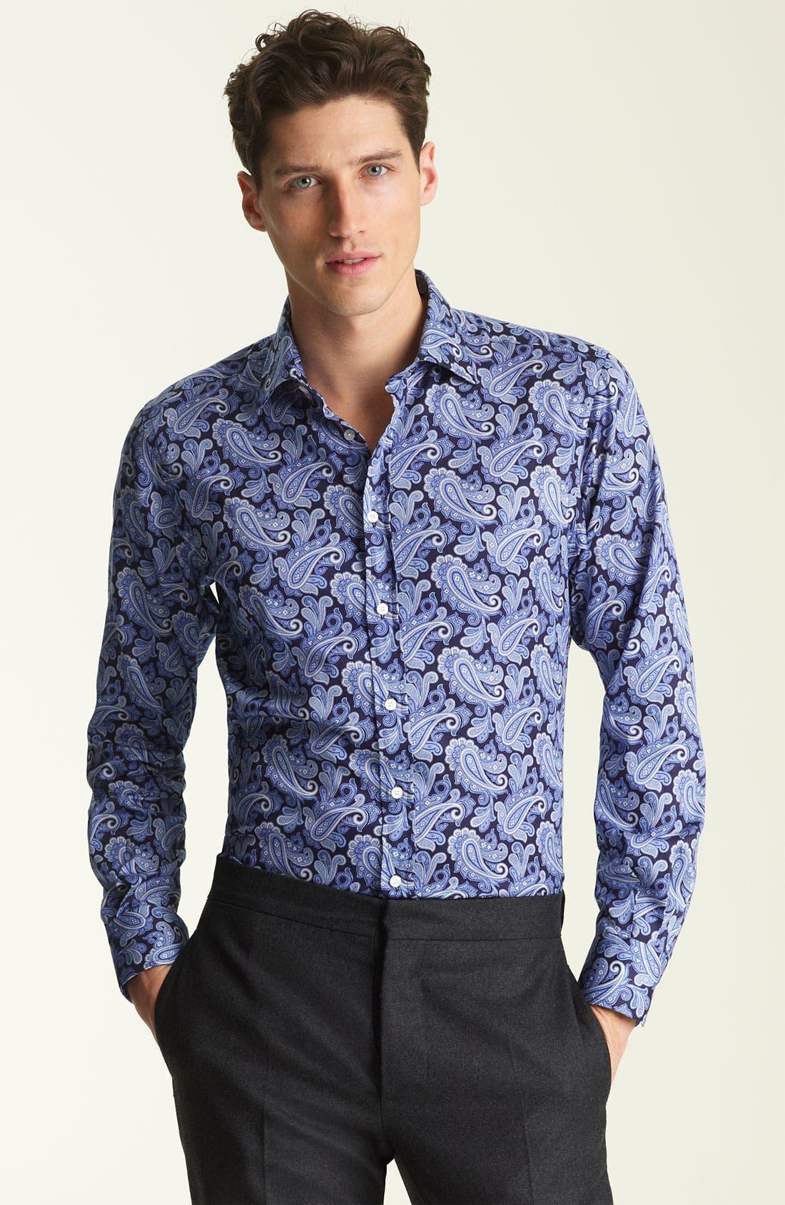 Alternate Image 1 Selected - Etro Paisley Cotton Shirt