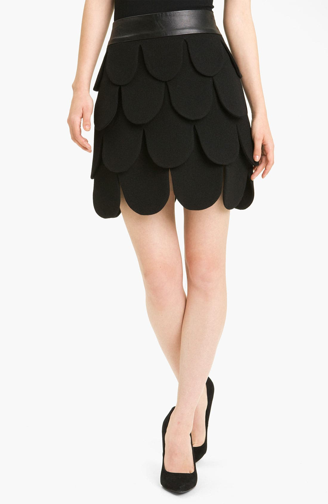 Main Image - Milly 'Cleo' Tiered Wool Skirt