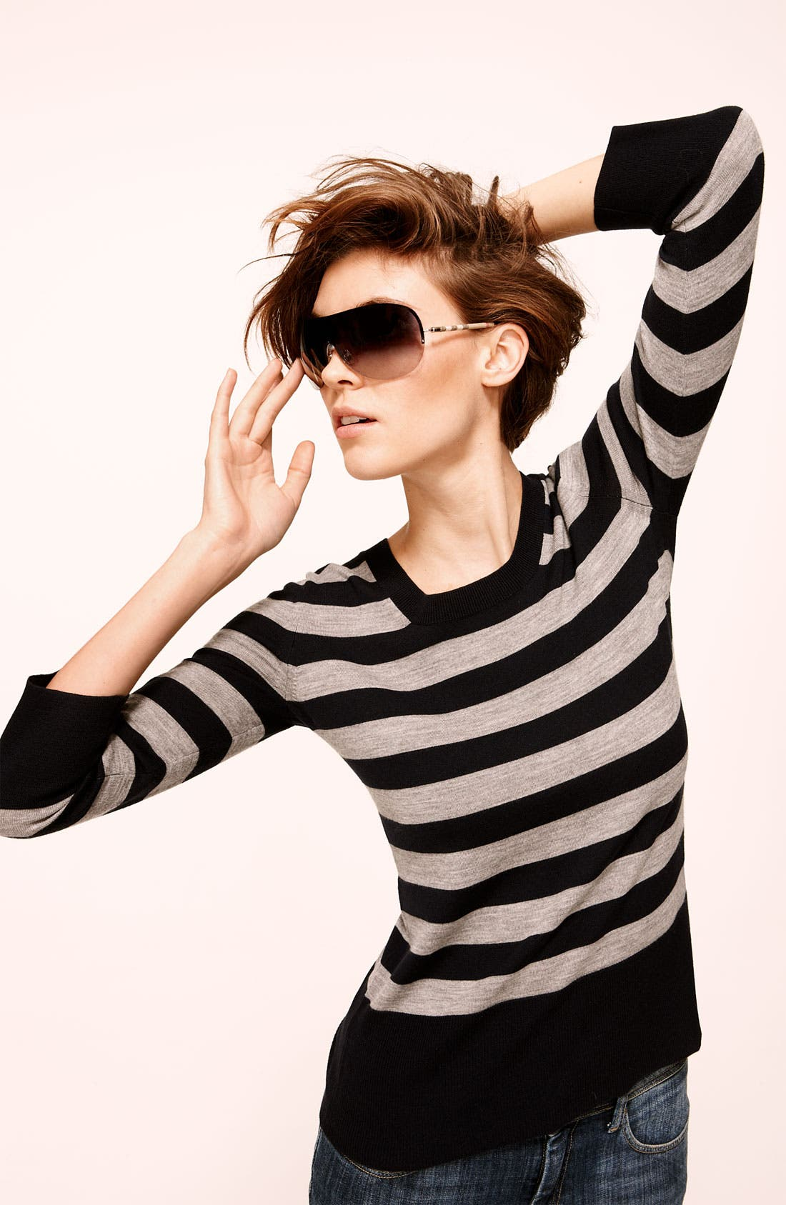 Alternate Image 2  - Burberry Shield Sunglasses