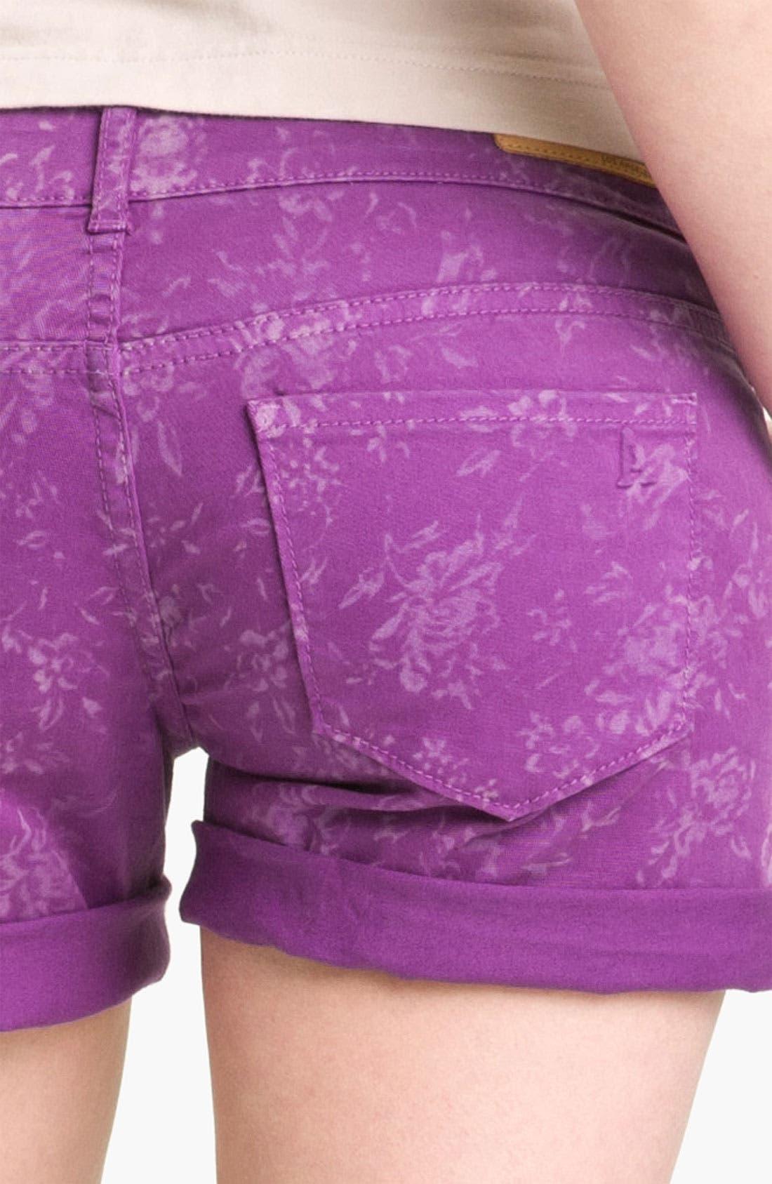 Alternate Image 2  - Articles of Society 'Kara' Cuff Denim Shorts (Flower) (Juniors)