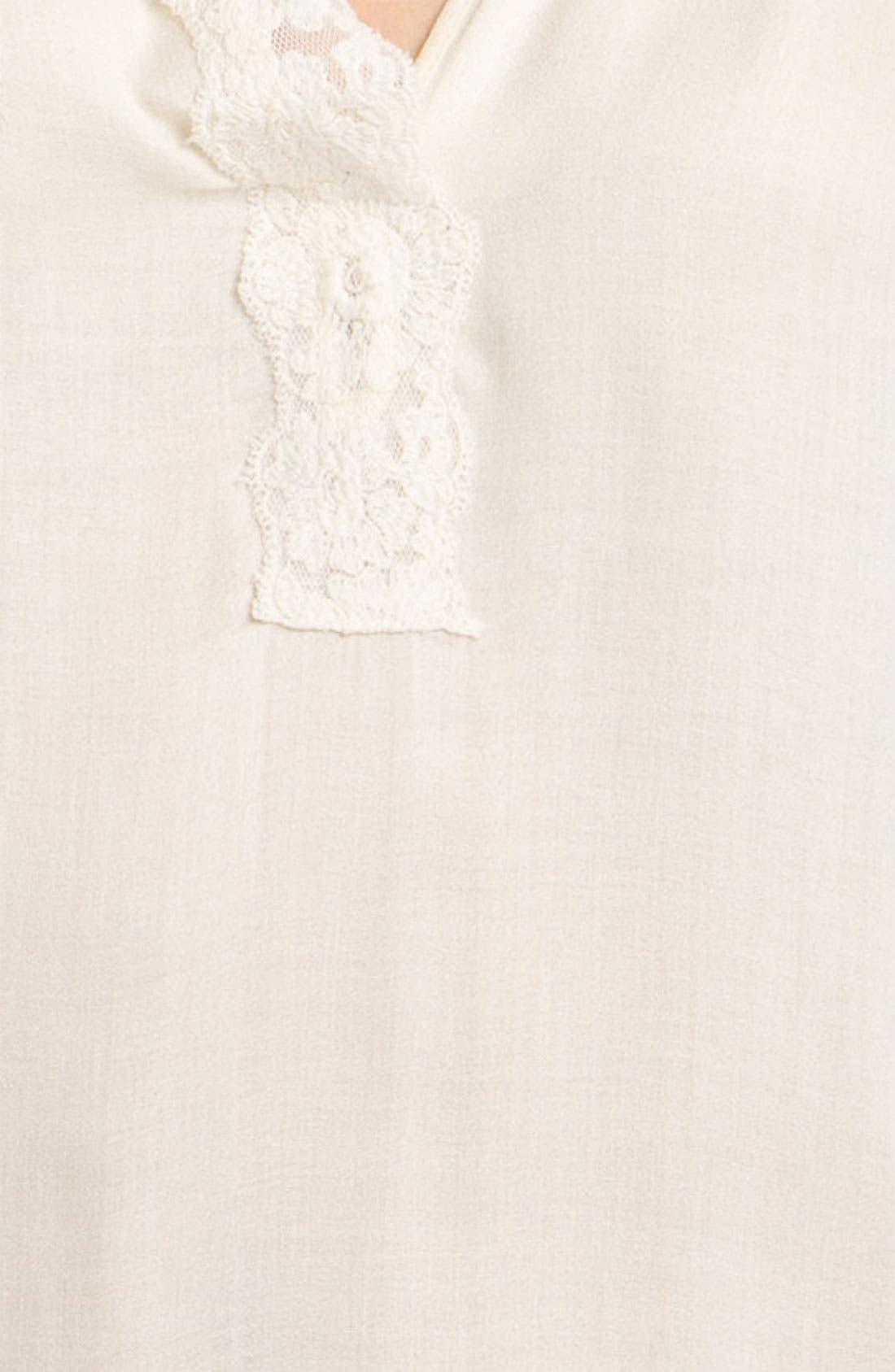 Alternate Image 3  - Ella Moss 'Magnolia' Lace Trim Top