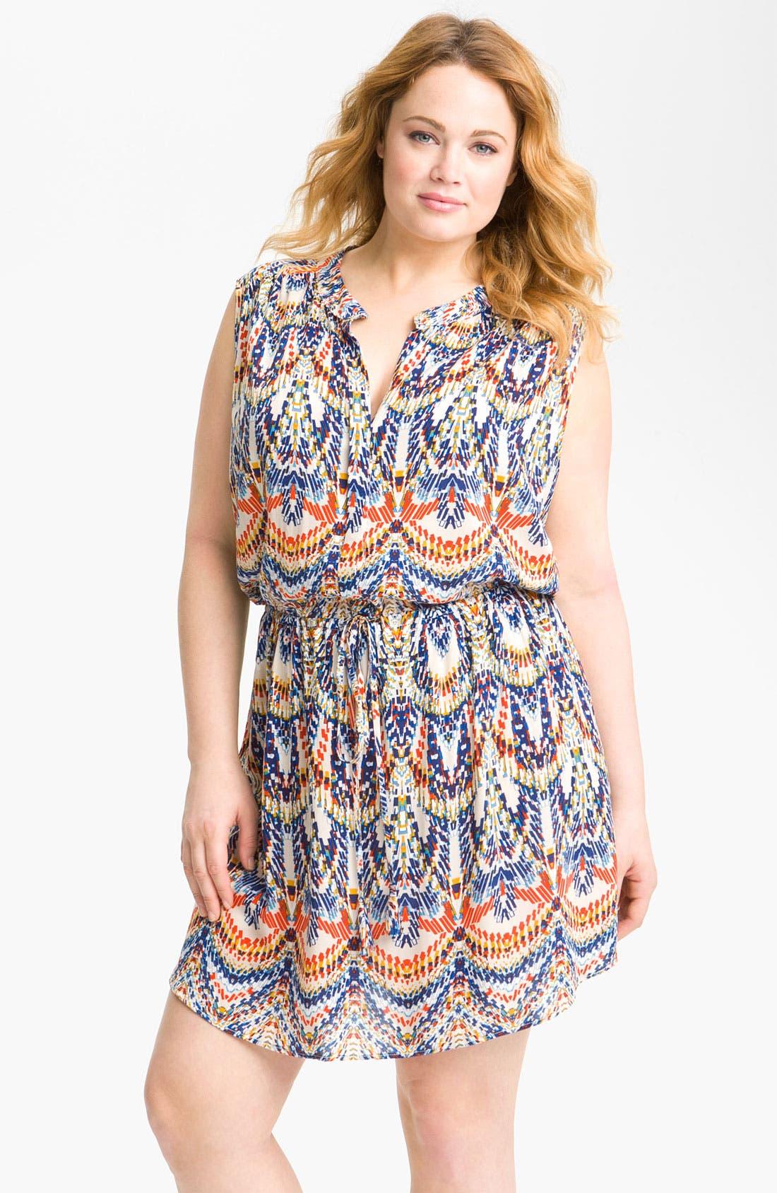 Main Image - Eight Sixty Blouson Sleeveless Dress (Plus)