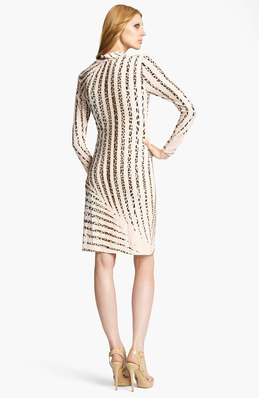 Alternate Image 2  - Blumarine Animal Stripe Cowl Neck Dress