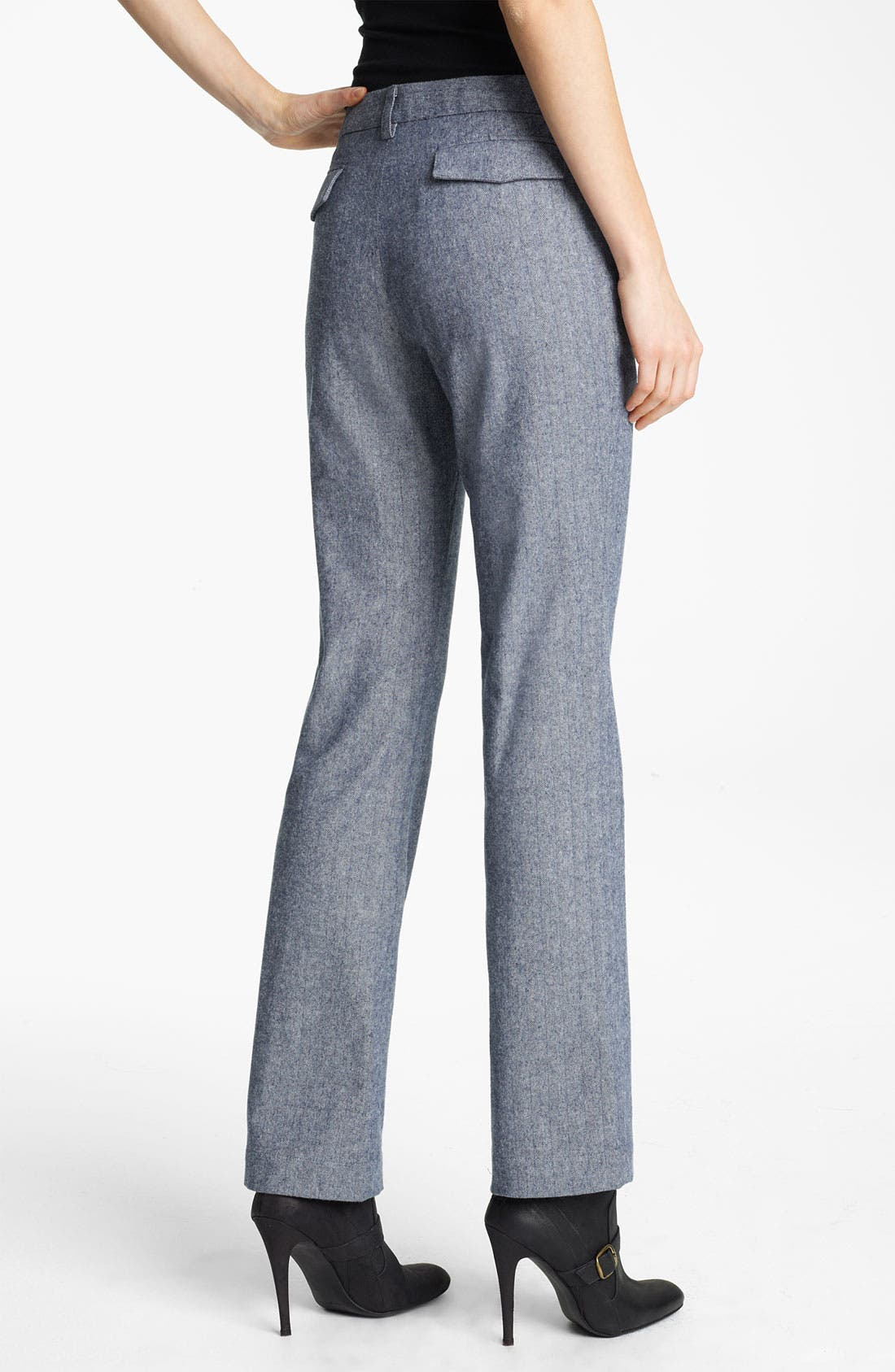 Alternate Image 2  - Band of Outsiders Straight Leg Herringbone Pants