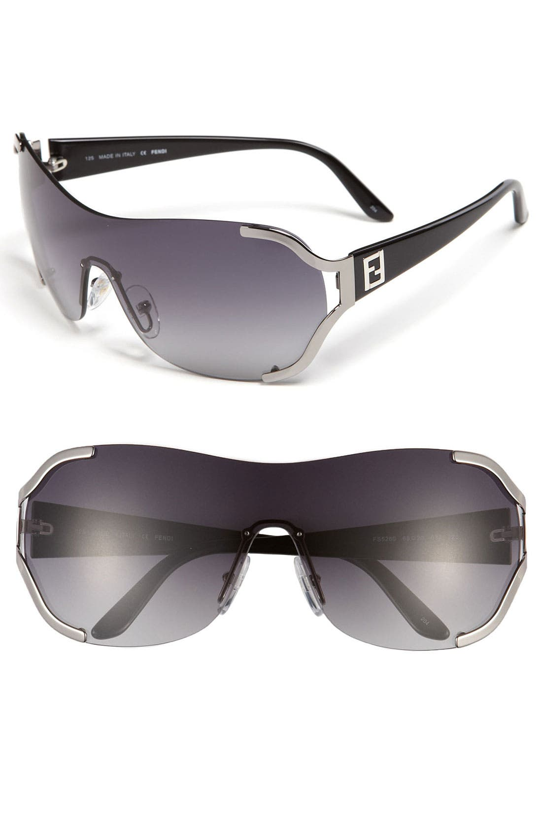 Main Image - Fendi 66mm Metal Shield Sunglasses
