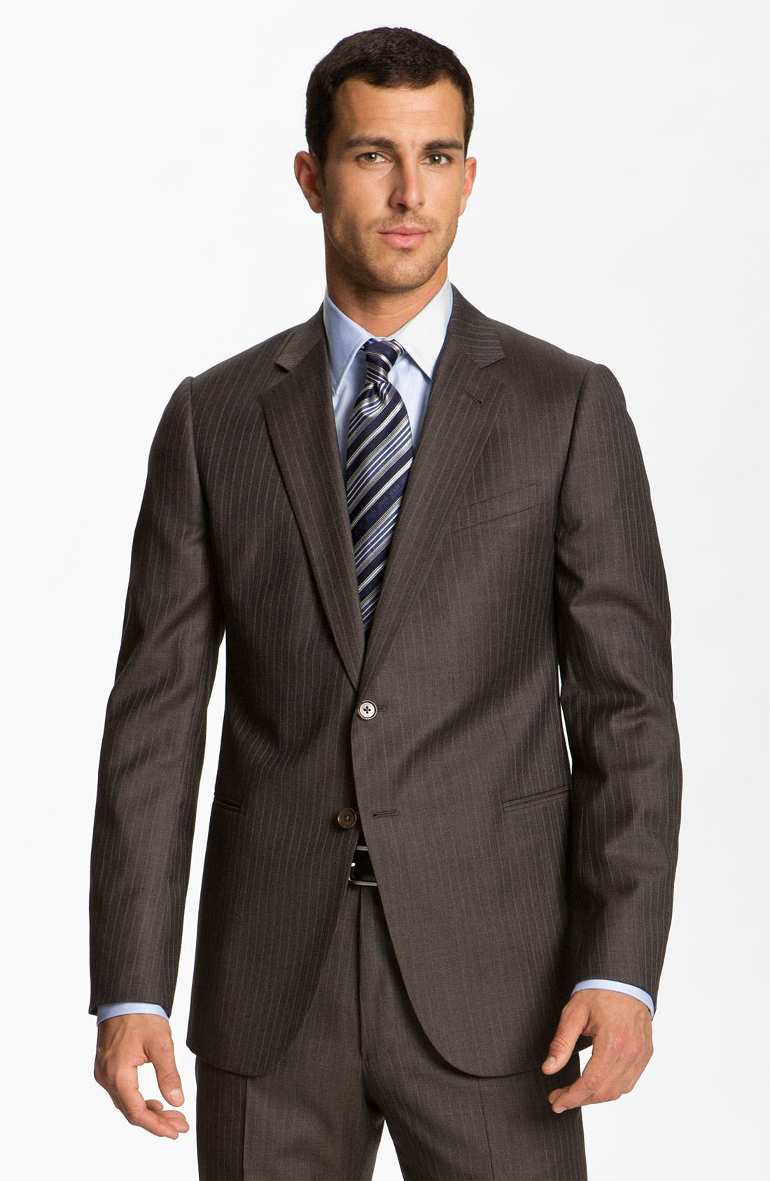 Alternate Image 1 Selected - Armani Collezioni Stripe Wool Suit