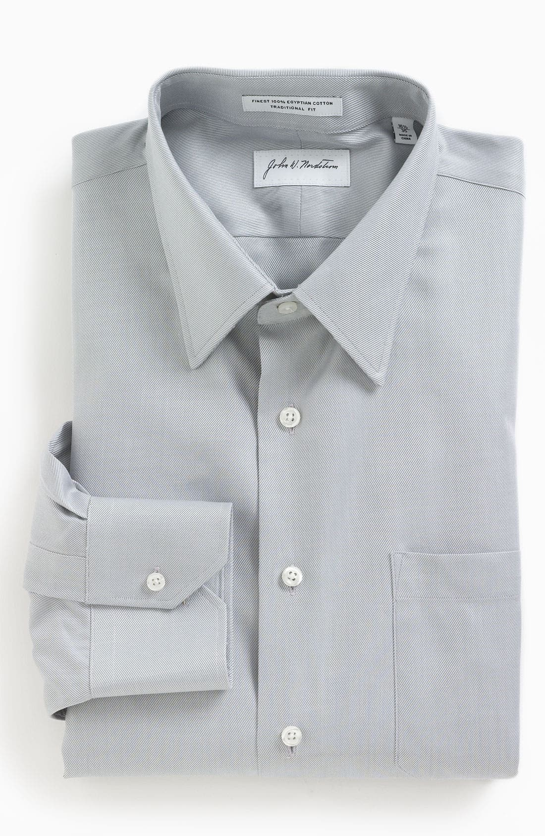 Main Image - John W. Nordstrom Traditional Fit Dress Shirt (Online Only)