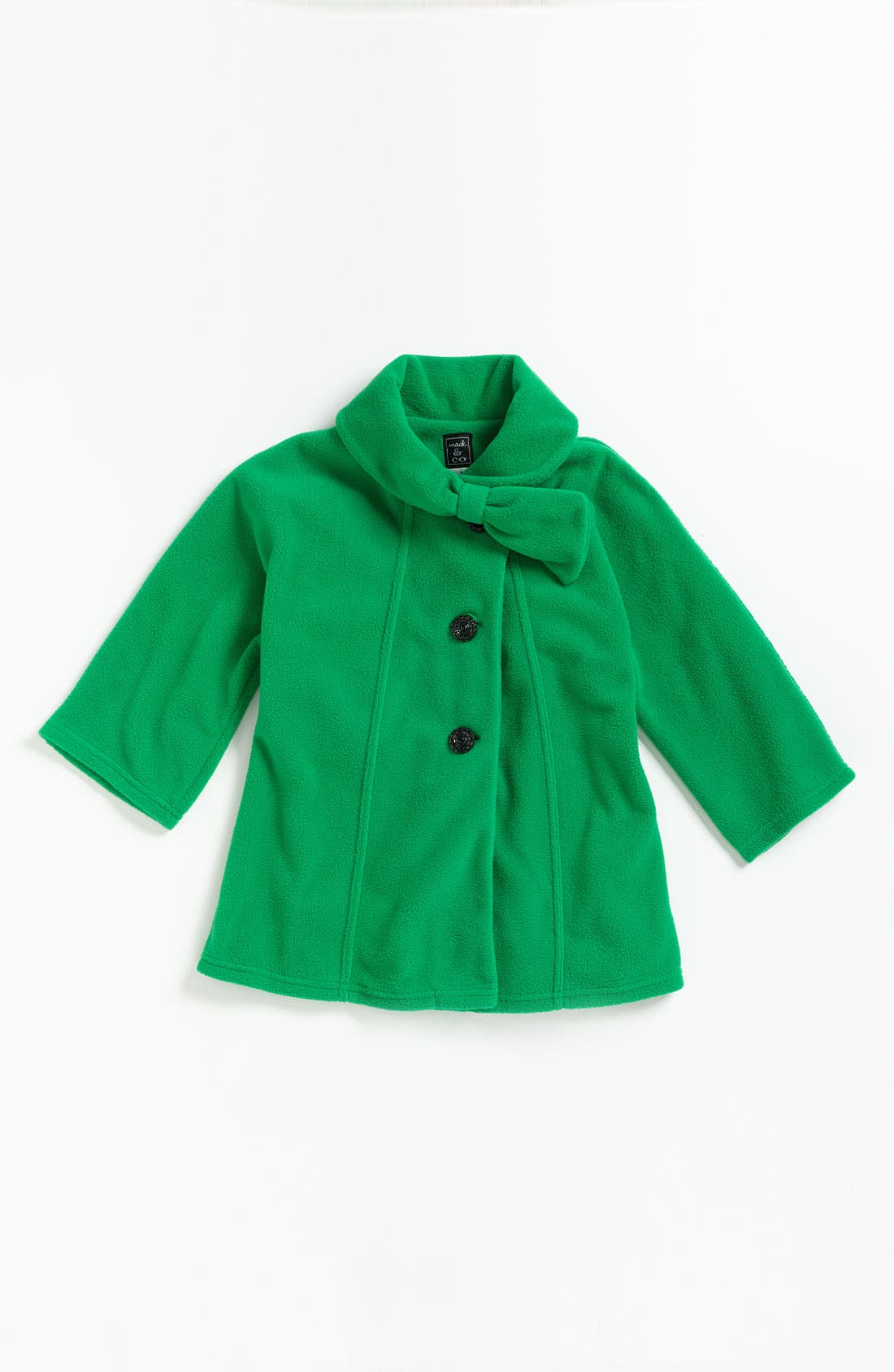 Alternate Image 1 Selected - Mack & Co. 'Jackie' Bow Coat (Little Girls)