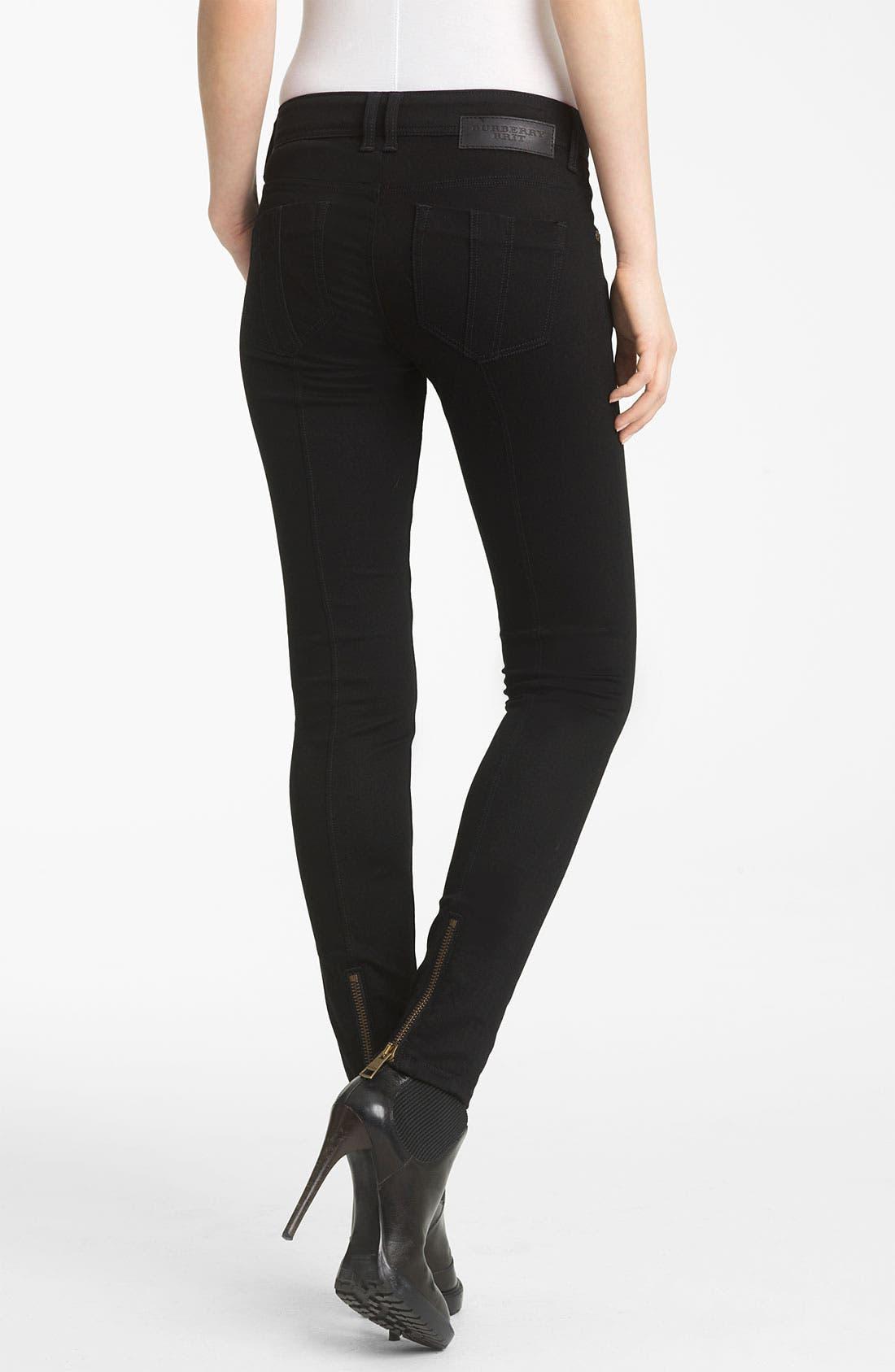 Alternate Image 2  - Burberry Brit Zip Hem Slim Jeans