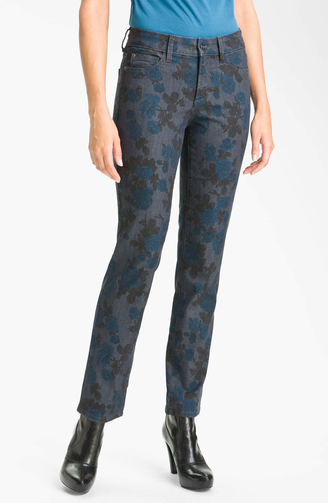 Alternate Image 2  - NYDJ 'Sheri - Wild Rose' Print Skinny Twill Jeans