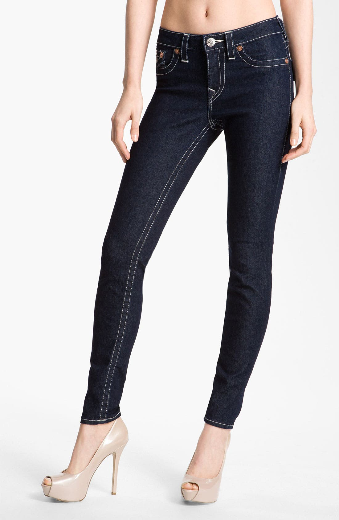 Alternate Image 1 Selected - True Religion Brand Jeans 'Serena' Skinny Leg Jeans (Body Rinse) (Online Exclusive)