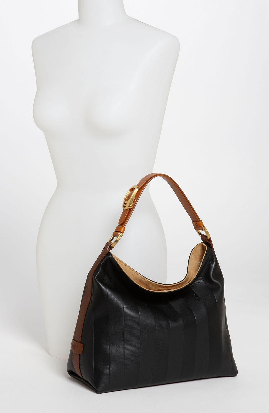 Alternate Image 2  - Fendi 'Paris Pequin - Small' Leather Hobo