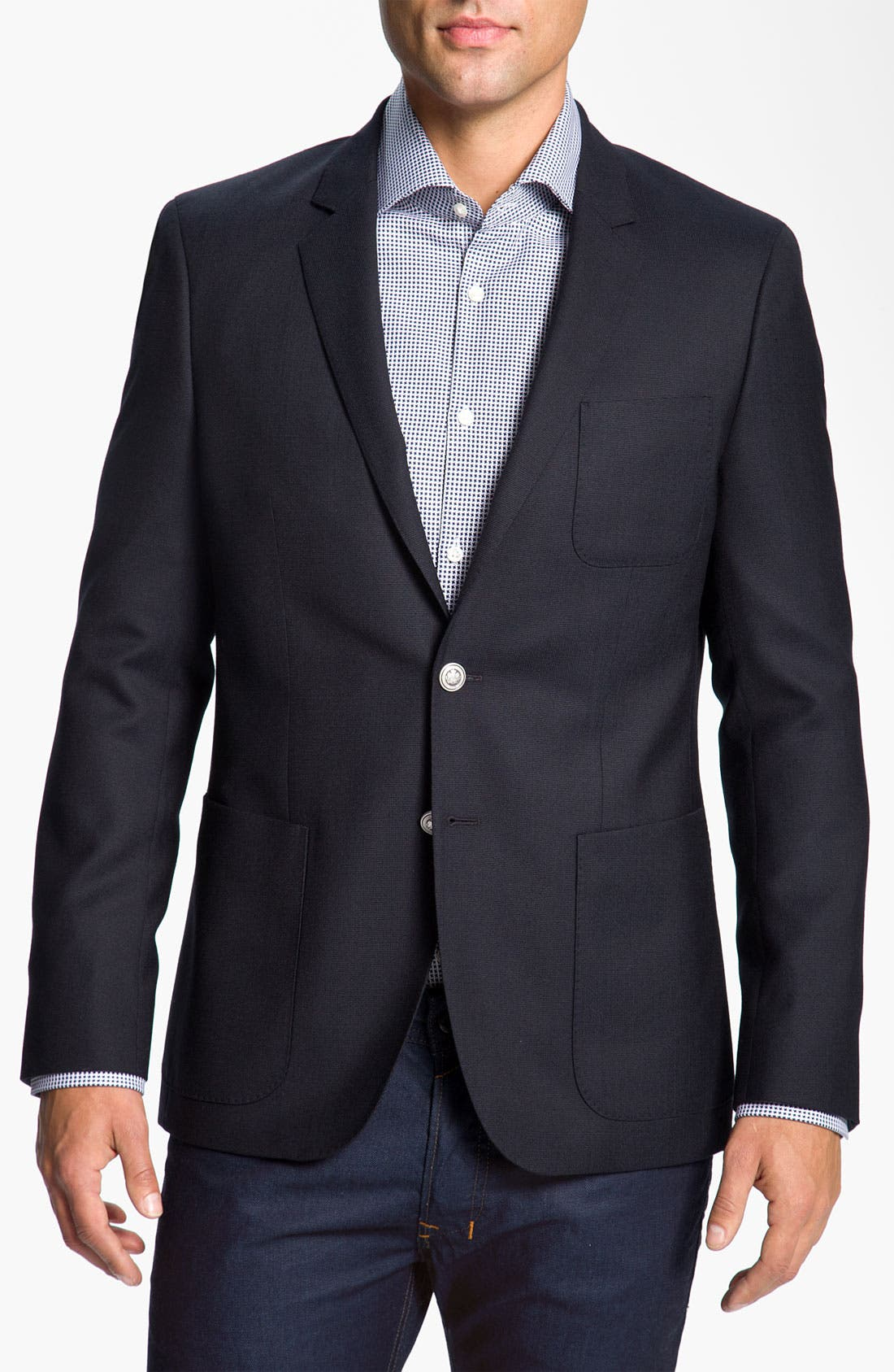 Main Image - BOSS Black 'Rover' Extra Trim Fit Wool Blazer