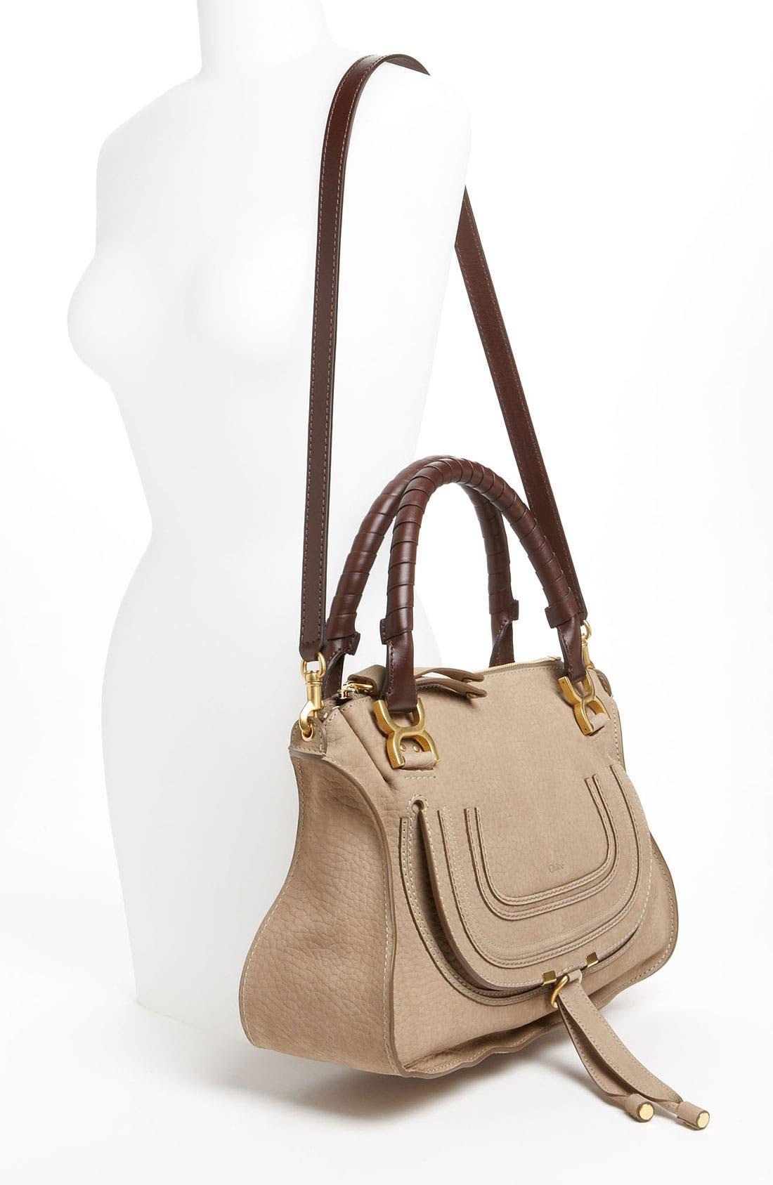 Alternate Image 2  - Chloé 'Marcie -Small' Nubuck Leather Shoulder Bag