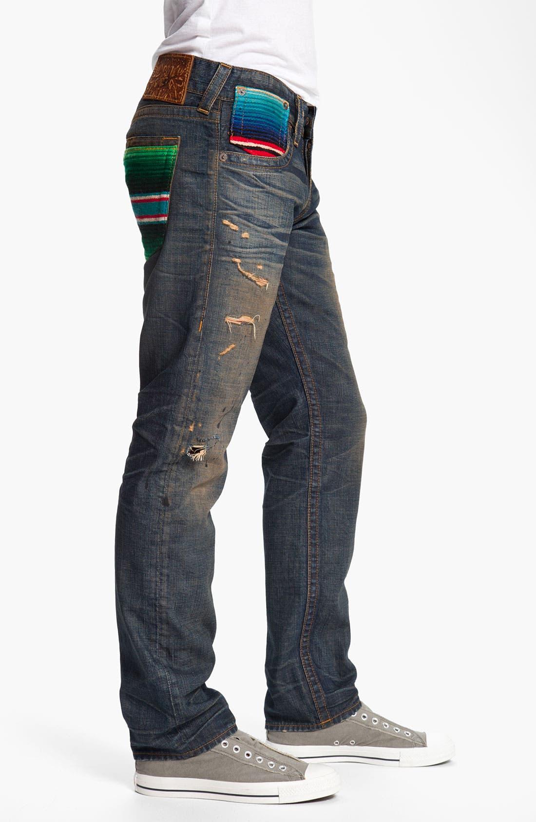 Alternate Image 3  - True Religion Brand Jeans 'Geno Baja' Slim Straight Leg Jeans (Proclamation)