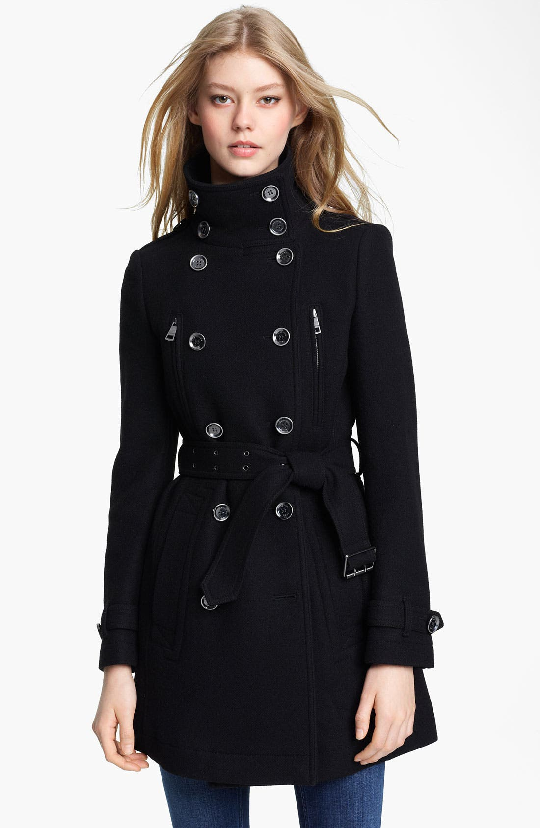 Alternate Image 1 Selected - Burberry Brit 'Charcottley' Double Breasted Coat