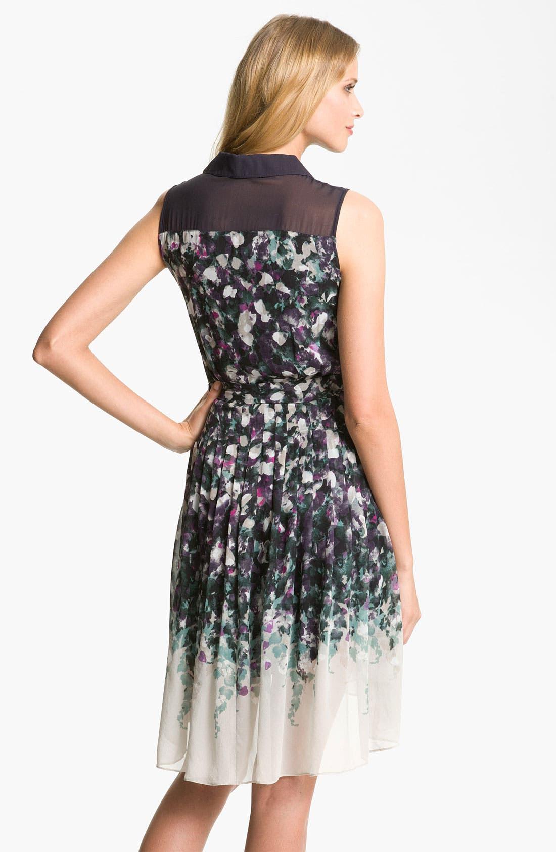 Alternate Image 2  - Suzi Chin for Maggy Boutique Collared Illusion Yoke Dress