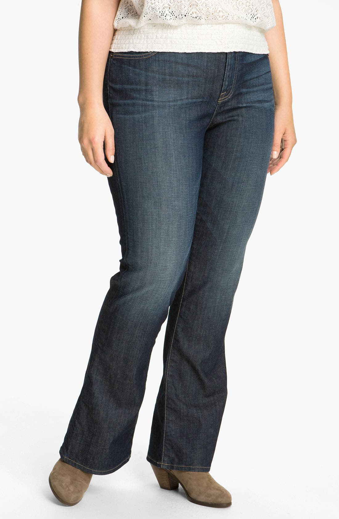 Alternate Image 1 Selected - Lucky Brand 'Ginger' Bootcut Jeans (Plus)