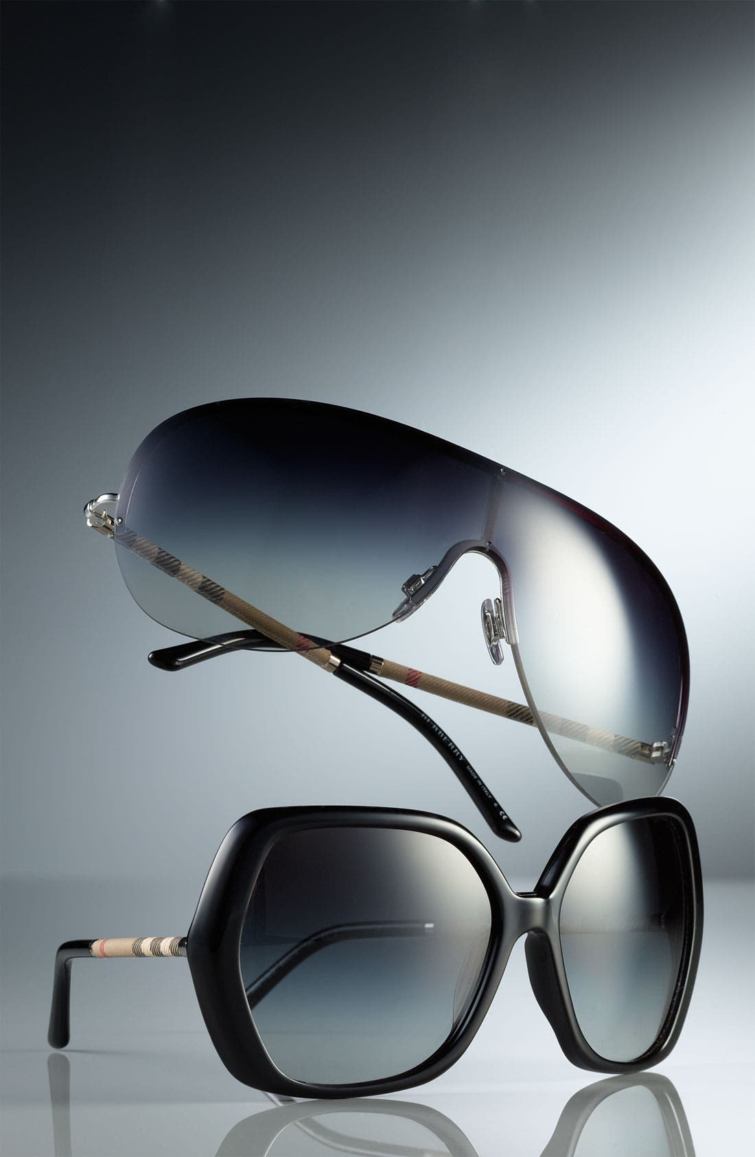 Alternate Image 3  - Burberry Shield Sunglasses