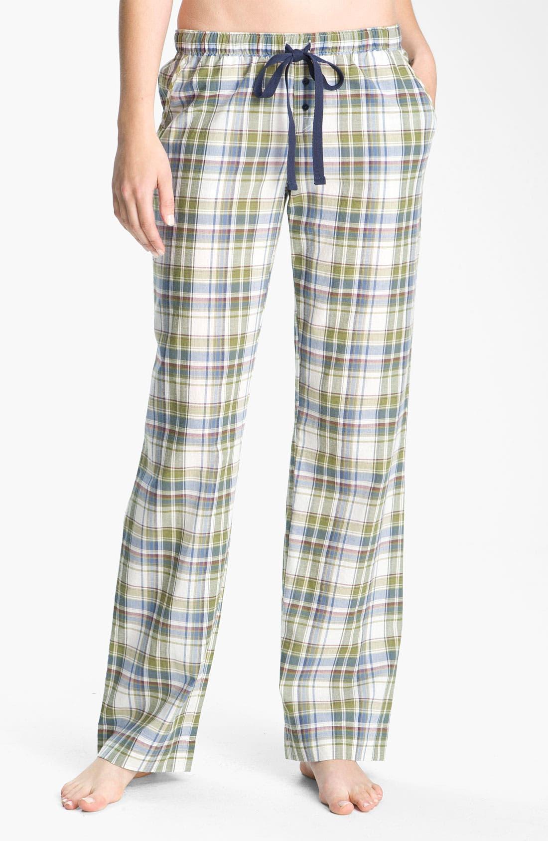 Alternate Image 1 Selected - Jane & Bleecker New York Check Lounge Pants