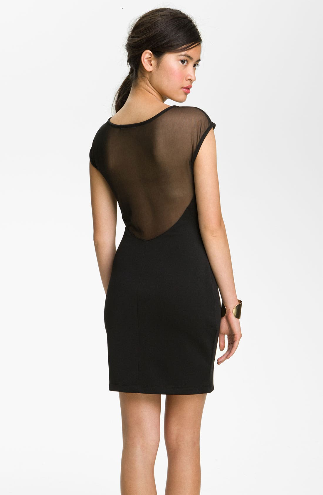 Alternate Image 2  - Jump Apparel Mesh Body-Con Dress (Juniors)
