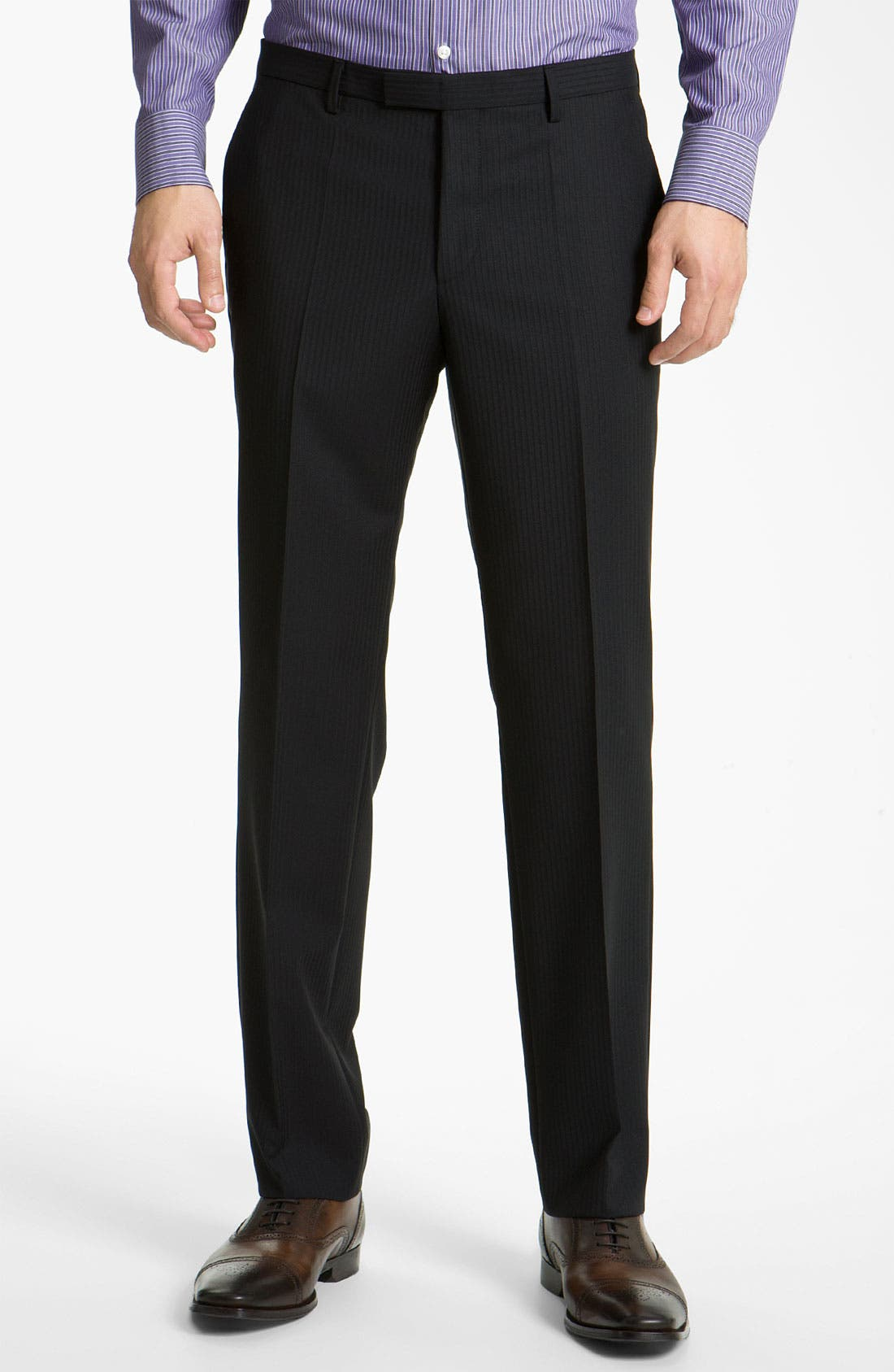 Alternate Image 4  - BOSS Black 'James/Sharp' Trim Fit Stripe Suit