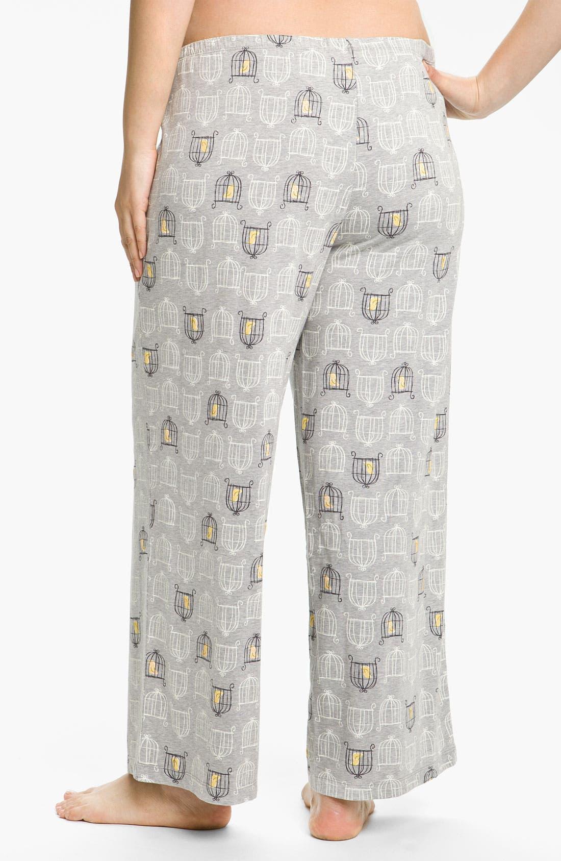 Alternate Image 2  - Hue 'Birdcage' Pajama Pants (Plus)