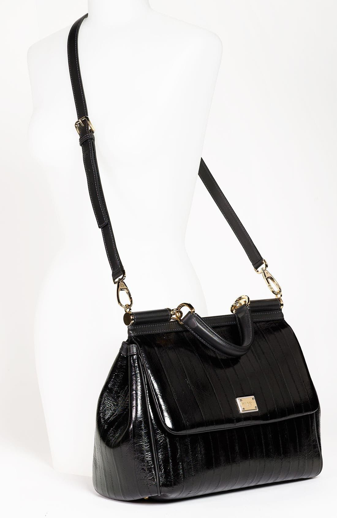 Alternate Image 2  - Dolce&Gabbana 'Miss Sicily' Eel & Leather Satchel