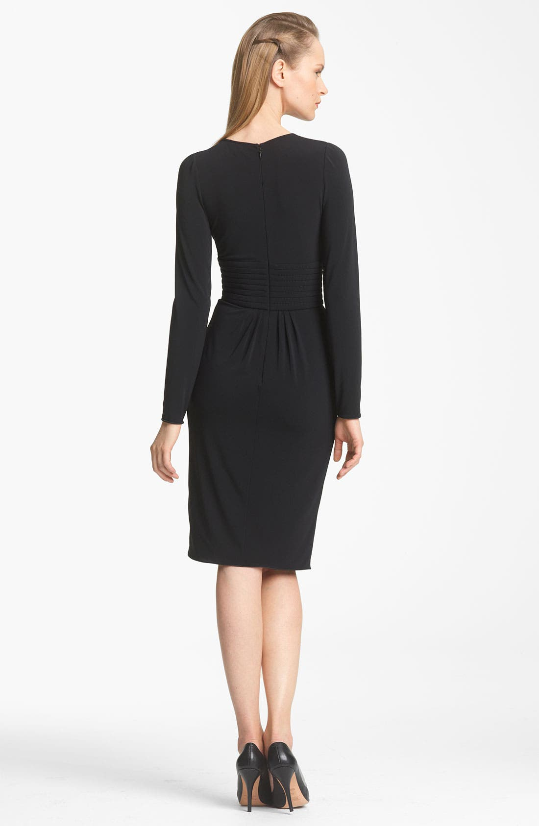 Alternate Image 2  - Armani Collezioni Matte Jersey Dress