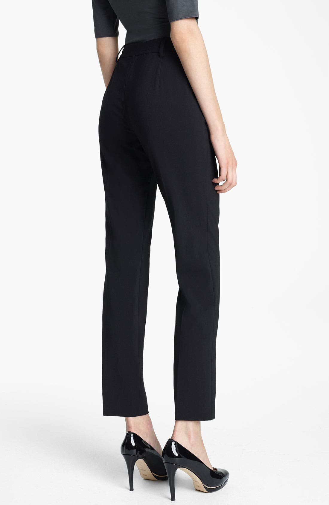 Alternate Image 2  - Armani Collezioni Stretch Wool Pants