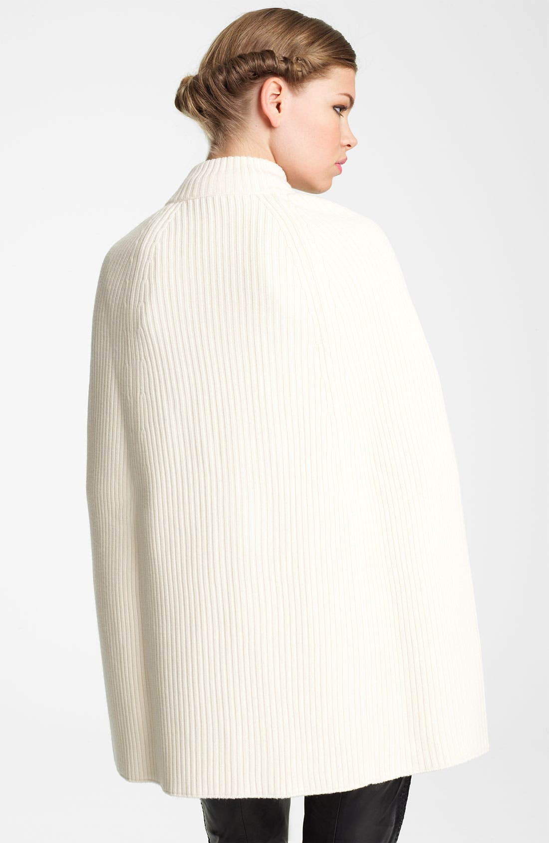 Alternate Image 2  - Valentino Zip Front Wool Cape