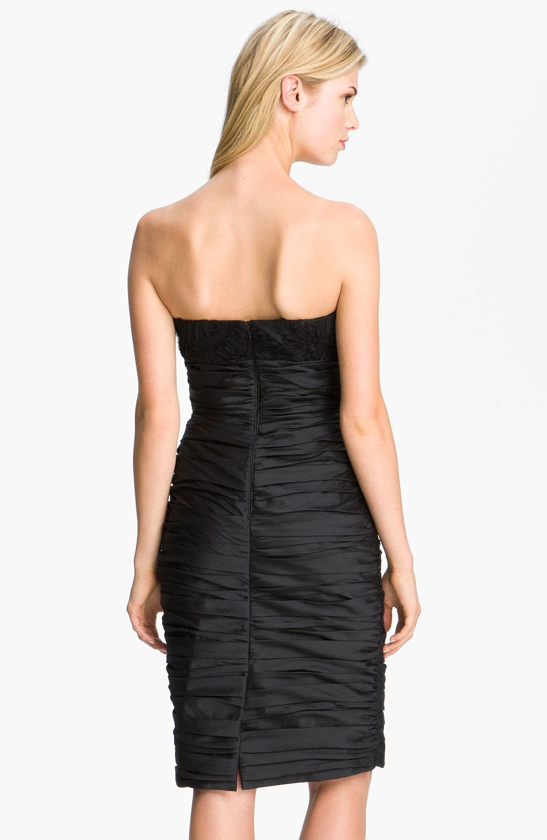 Alternate Image 2  - ML Monique Lhuillier Bridesmaids Ruched Strapless Taffeta Dress (Nordstrom Exclusive)