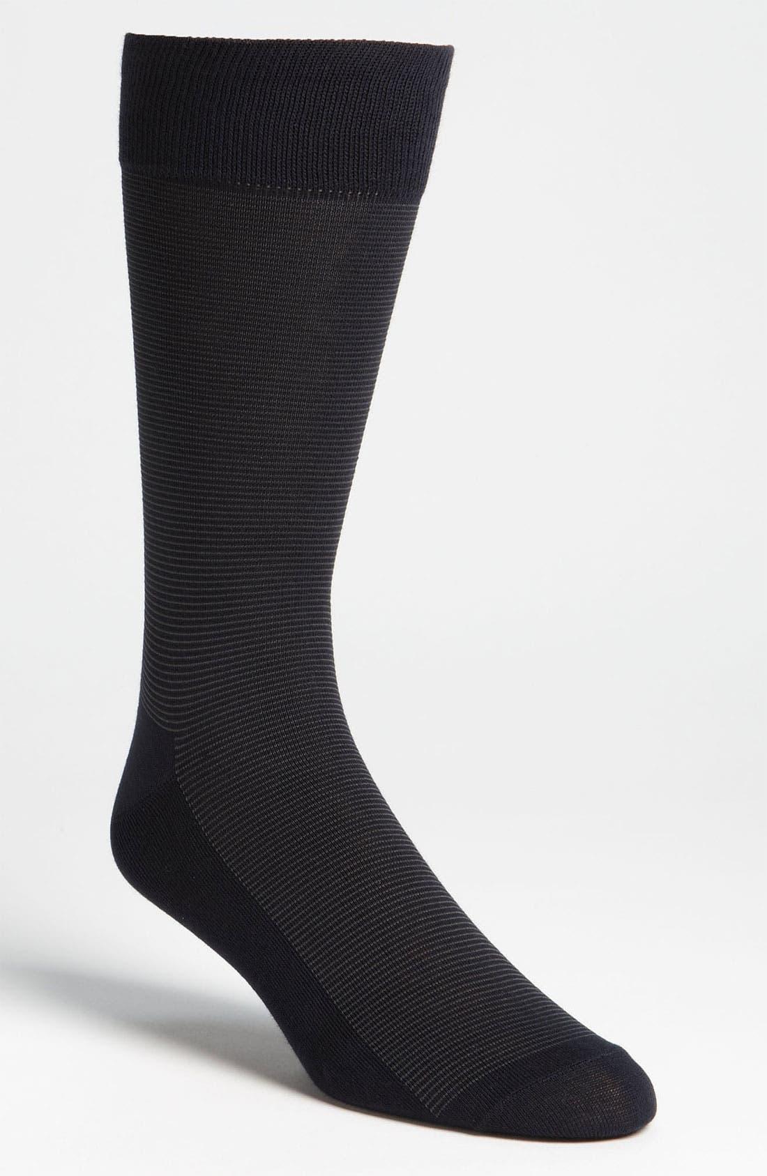 Alternate Image 1 Selected - Cole Haan Stripe Socks