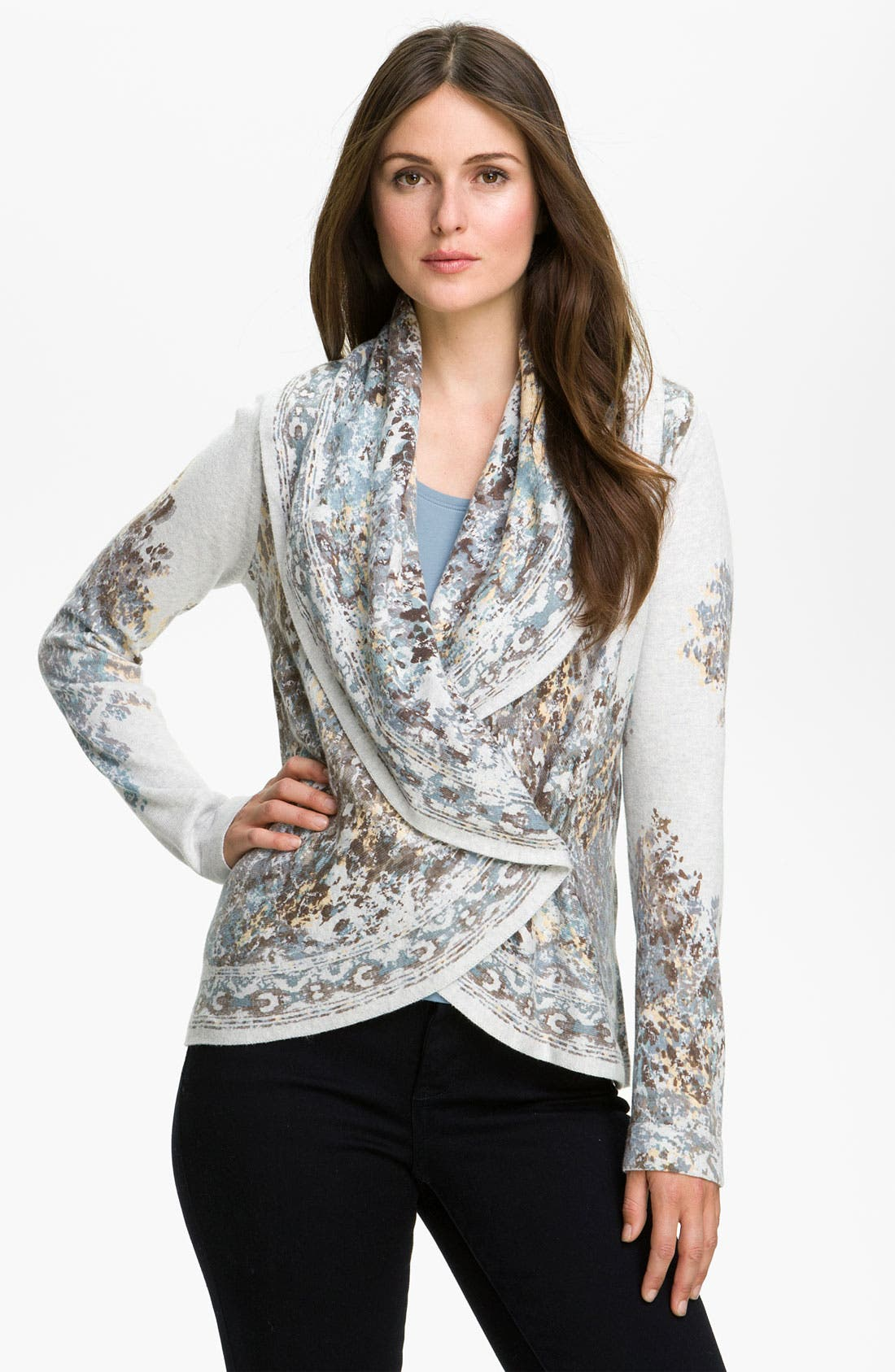 Alternate Image 1 Selected - Nic + Zoe 'Aurora' Print Cardigan