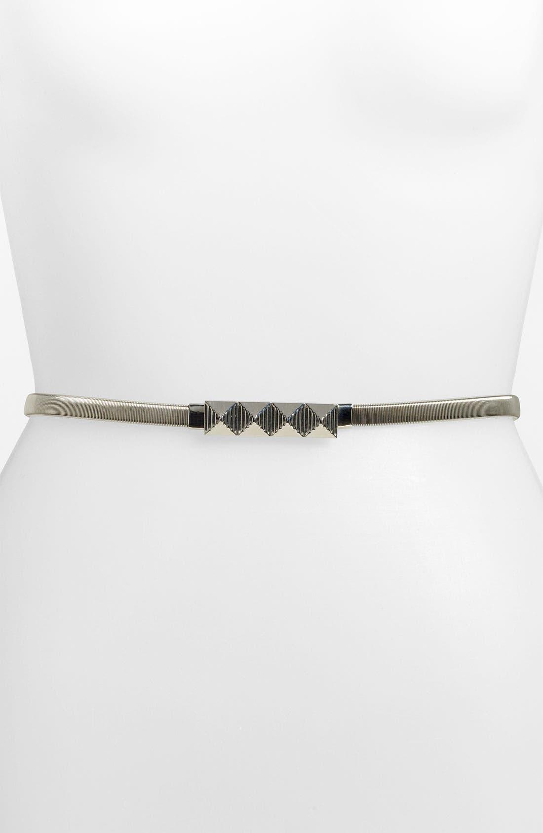Main Image - Lulu 'Pyramid' Metal Stretch Belt