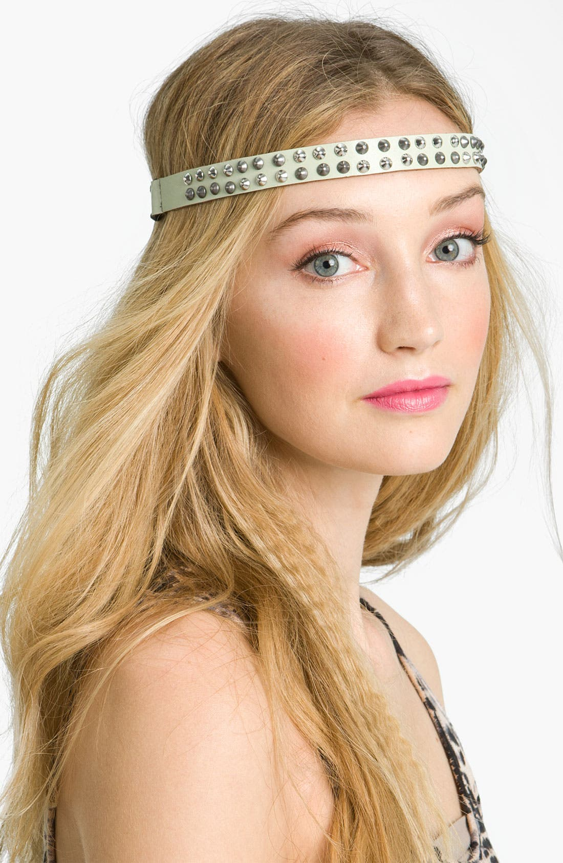 Alternate Image 1 Selected - Statements by DCK Studded Leather Headband