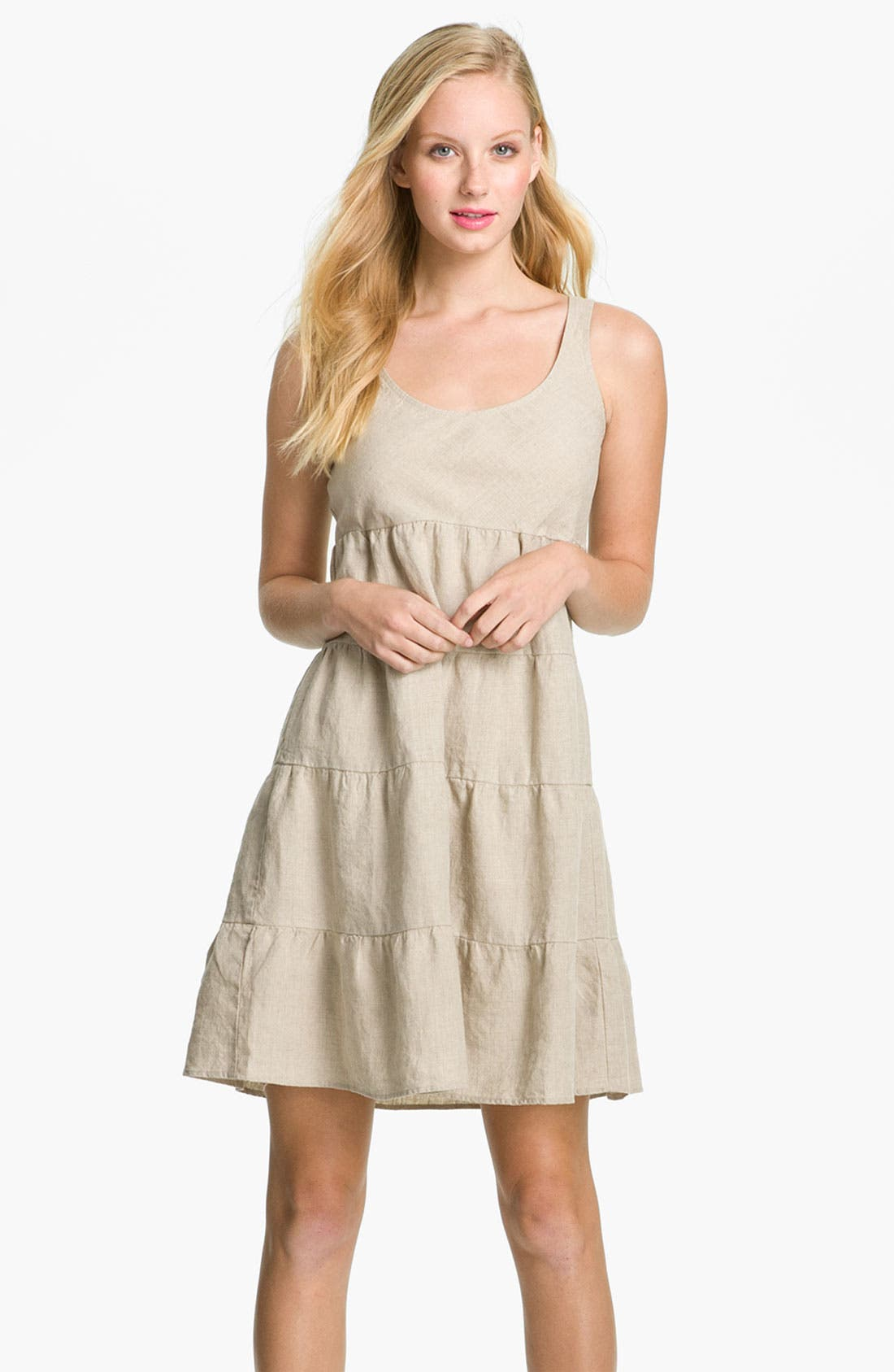 Alternate Image 1 Selected - Allen Allen Linen Dress