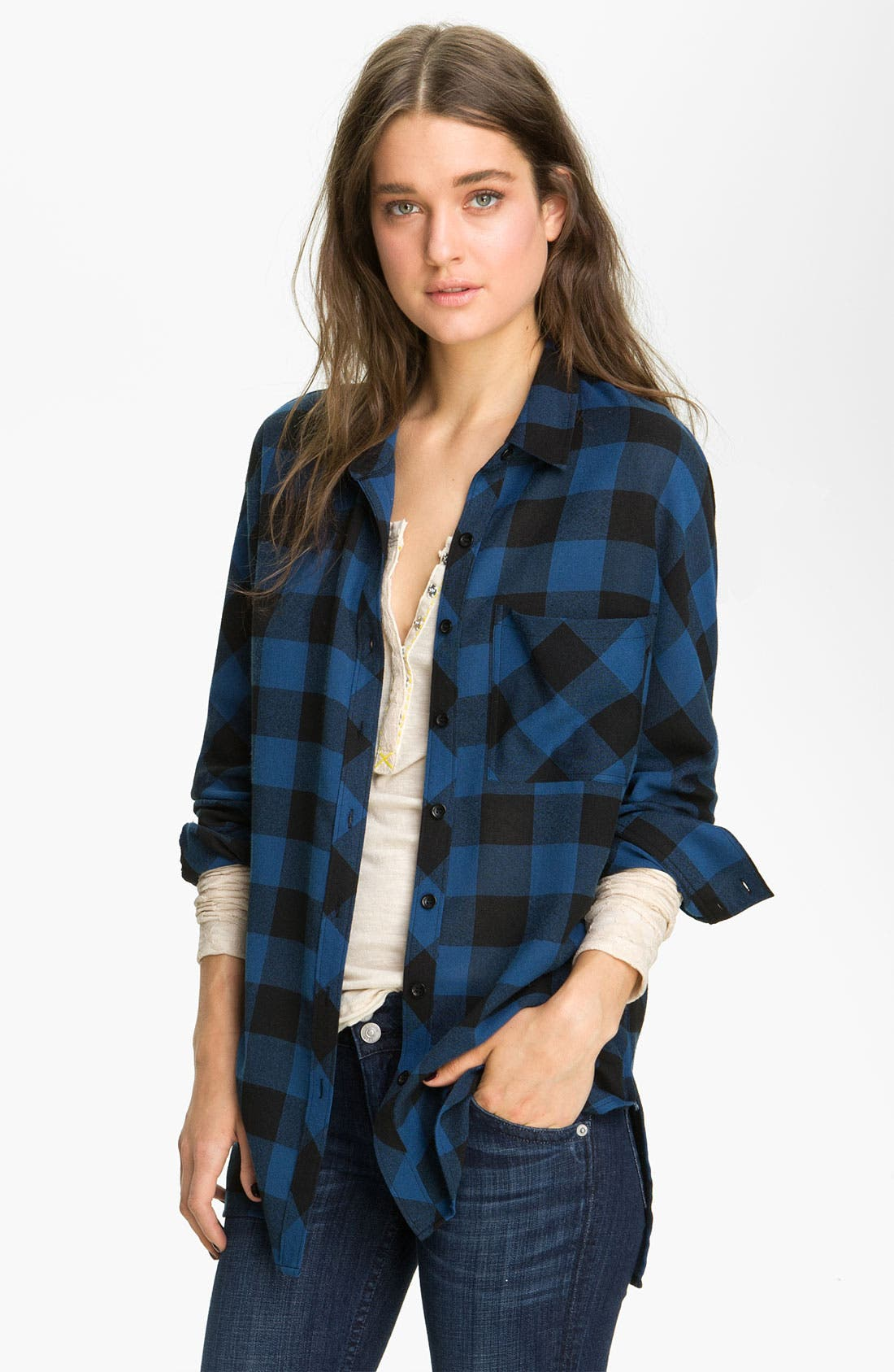 Main Image - Trouvé Buffalo Plaid Shirt