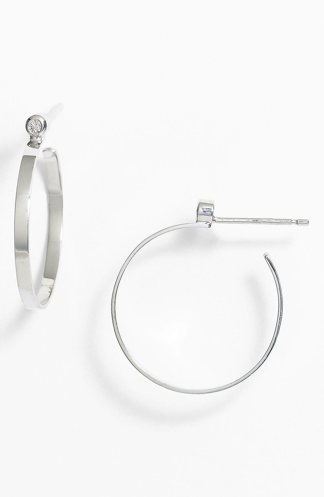 Alternate Image 1 Selected - Lana Jewelry Diamond Hoop Earrings