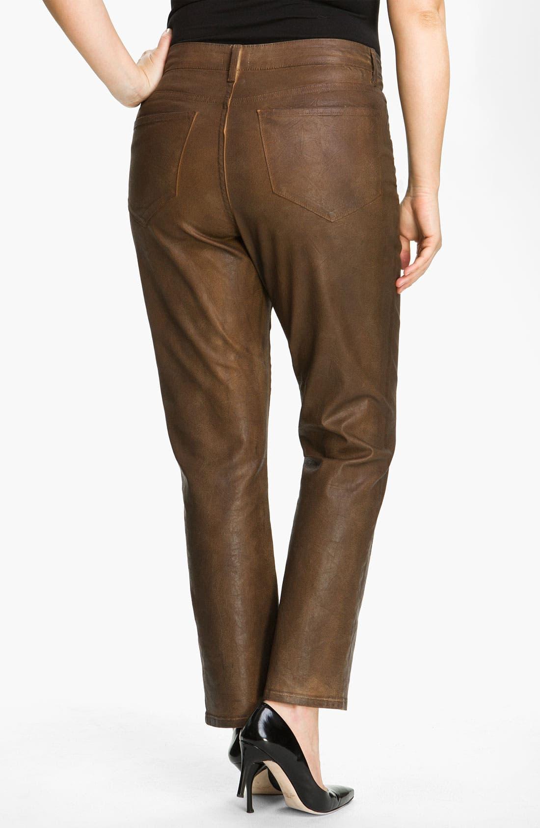 Alternate Image 2  - NYDJ 'Sheri' Skinny Terra Hide Jeans (Plus)