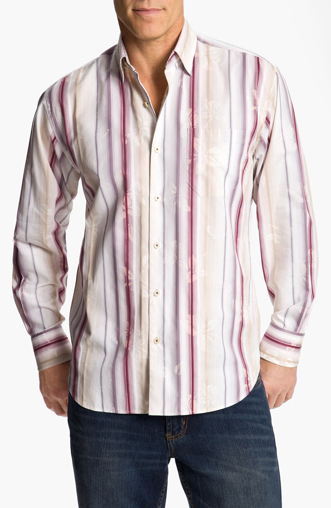 Alternate Image 1 Selected - Tommy Bahama 'Fleur de Soleil' Sport Shirt
