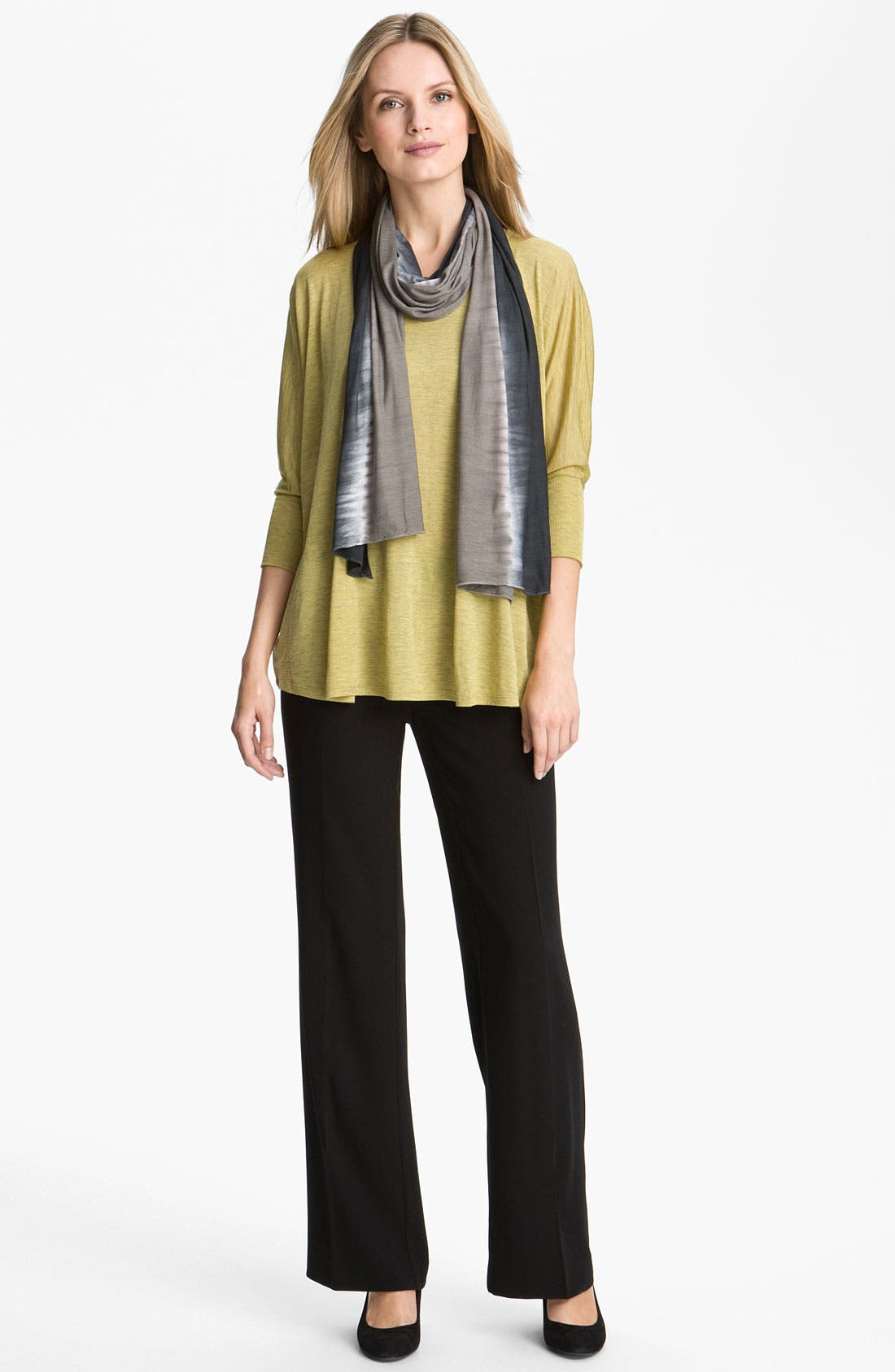 Alternate Image 3  - Eileen Fisher Silk & Cotton Jersey Top