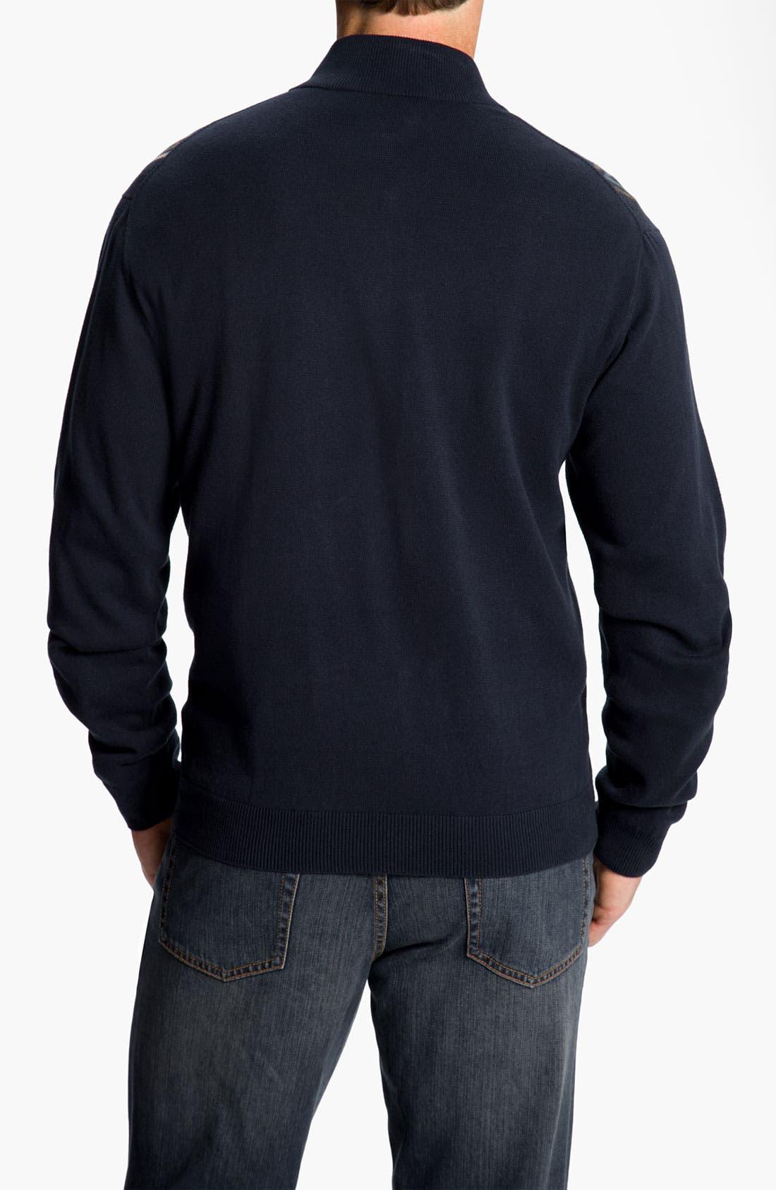 Alternate Image 2  - Cutter & Buck 'Gorge' Half Zip Sweater (Big & Tall) (Online Exclusive)