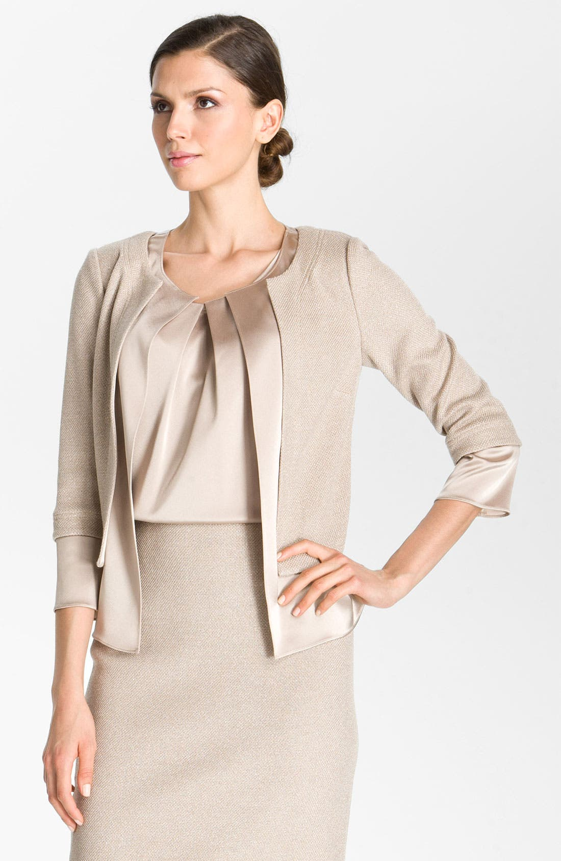 Alternate Image 2  - St. John Collection Fitted Shimmer Knit Jacket