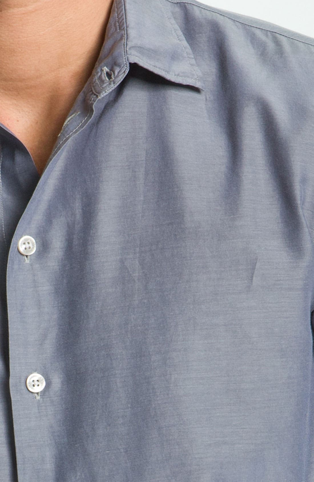 Alternate Image 3  - Armani Collezioni Chambray Dress Shirt