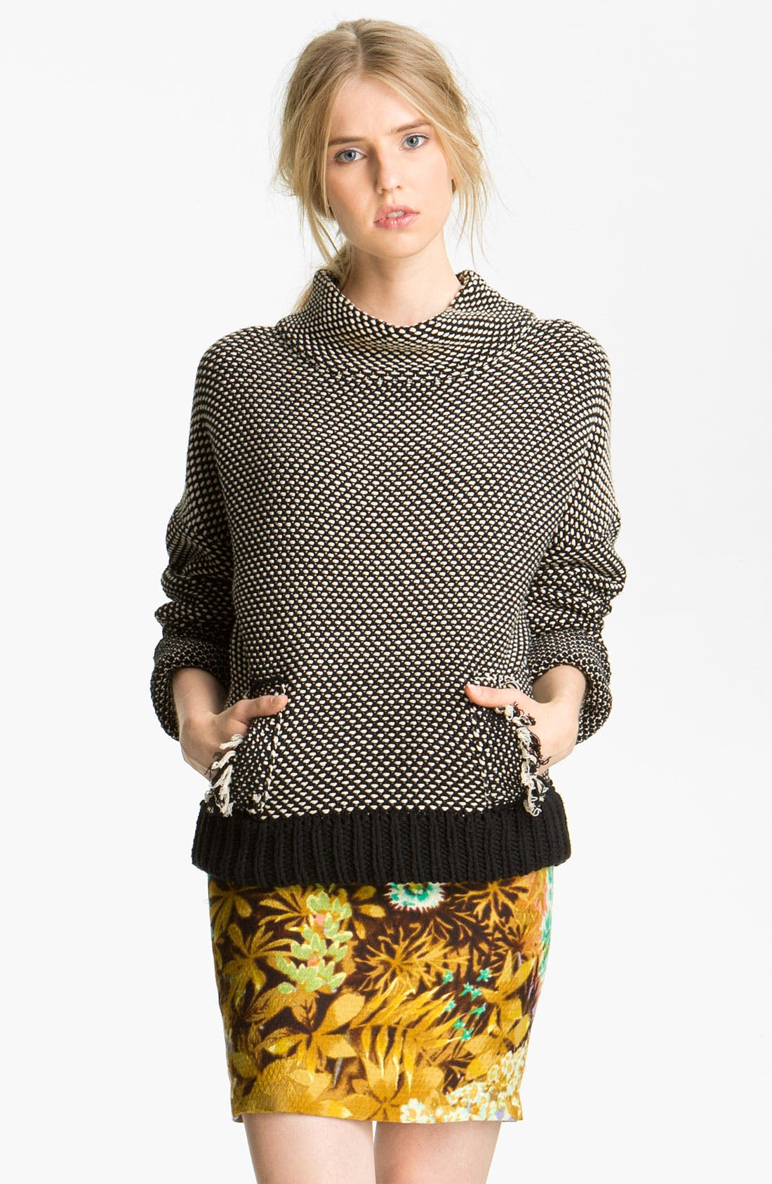 Alternate Image 1 Selected - Tracy Reese Two Tone Sweater