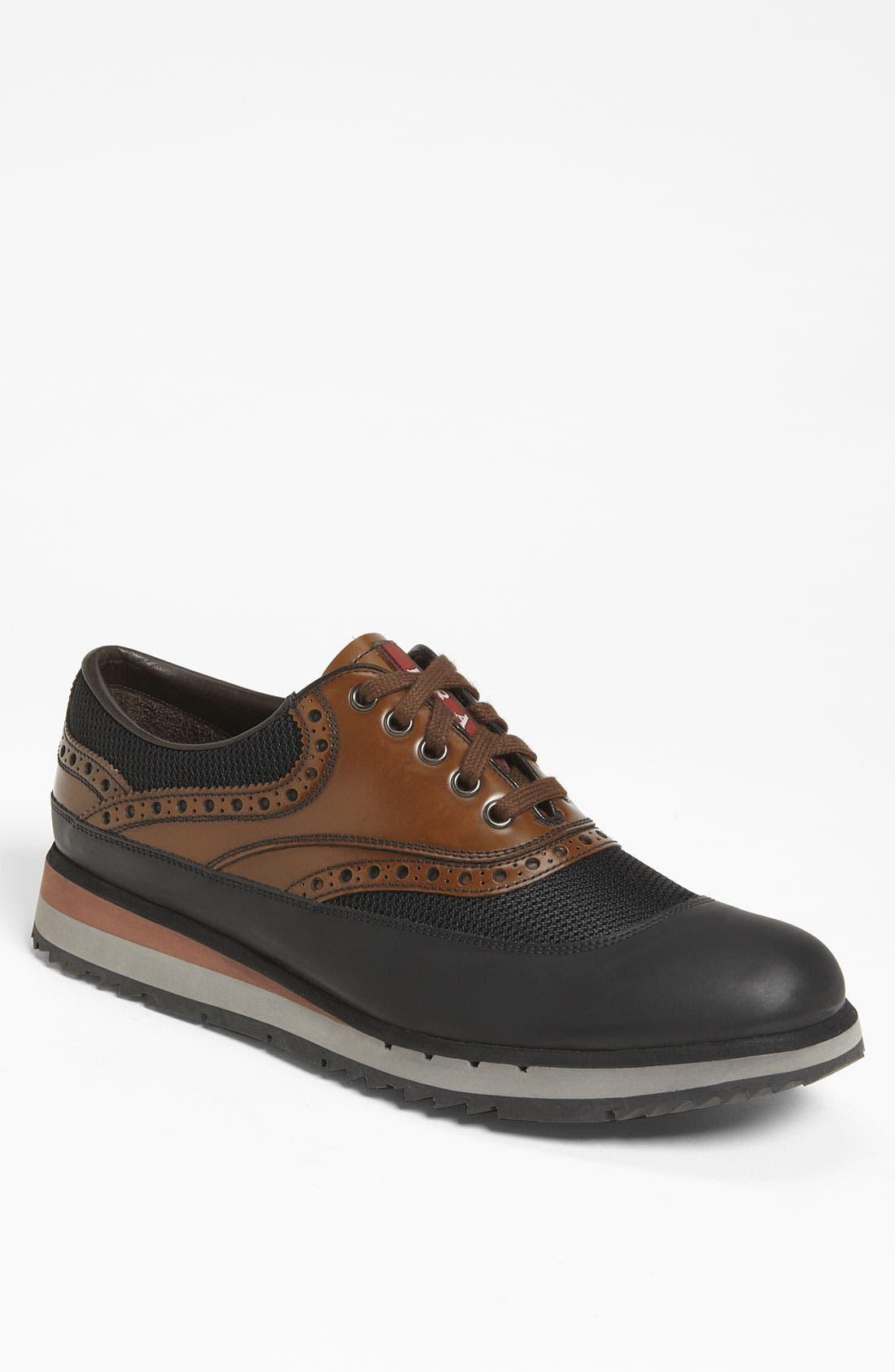 Alternate Image 1 Selected - Prada Double Sole Brogue Sneaker