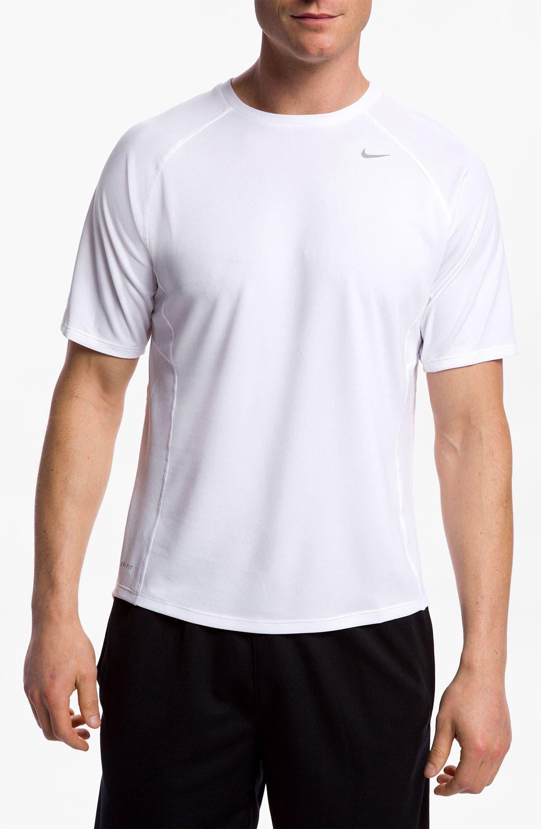 Alternate Image 1 Selected - Nike 'Miler' Dri-FIT UV Protection Short Sleeve T-Shirt