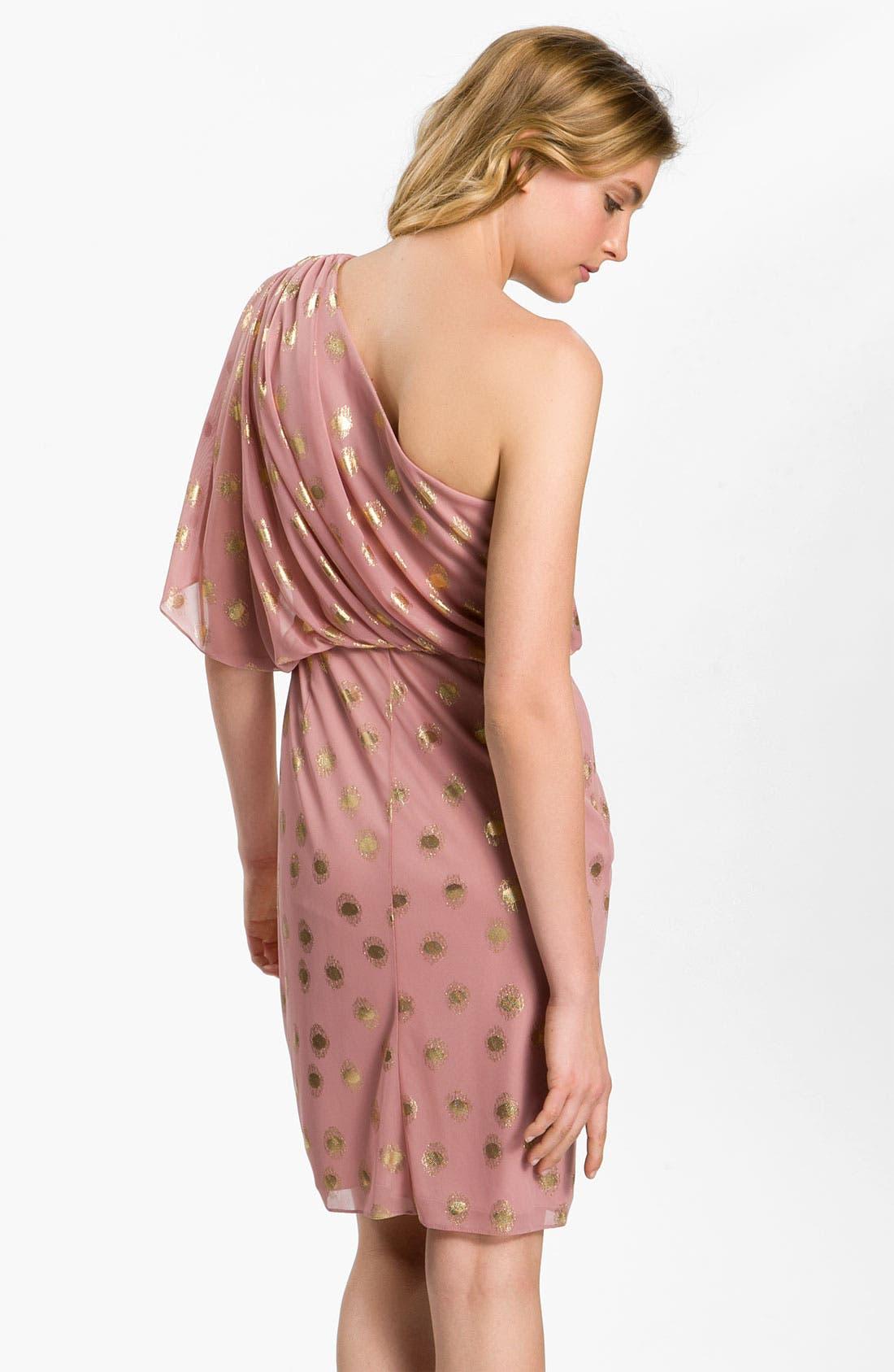 Alternate Image 2  - Adrianna Papell One Shoulder Chiffon Dress