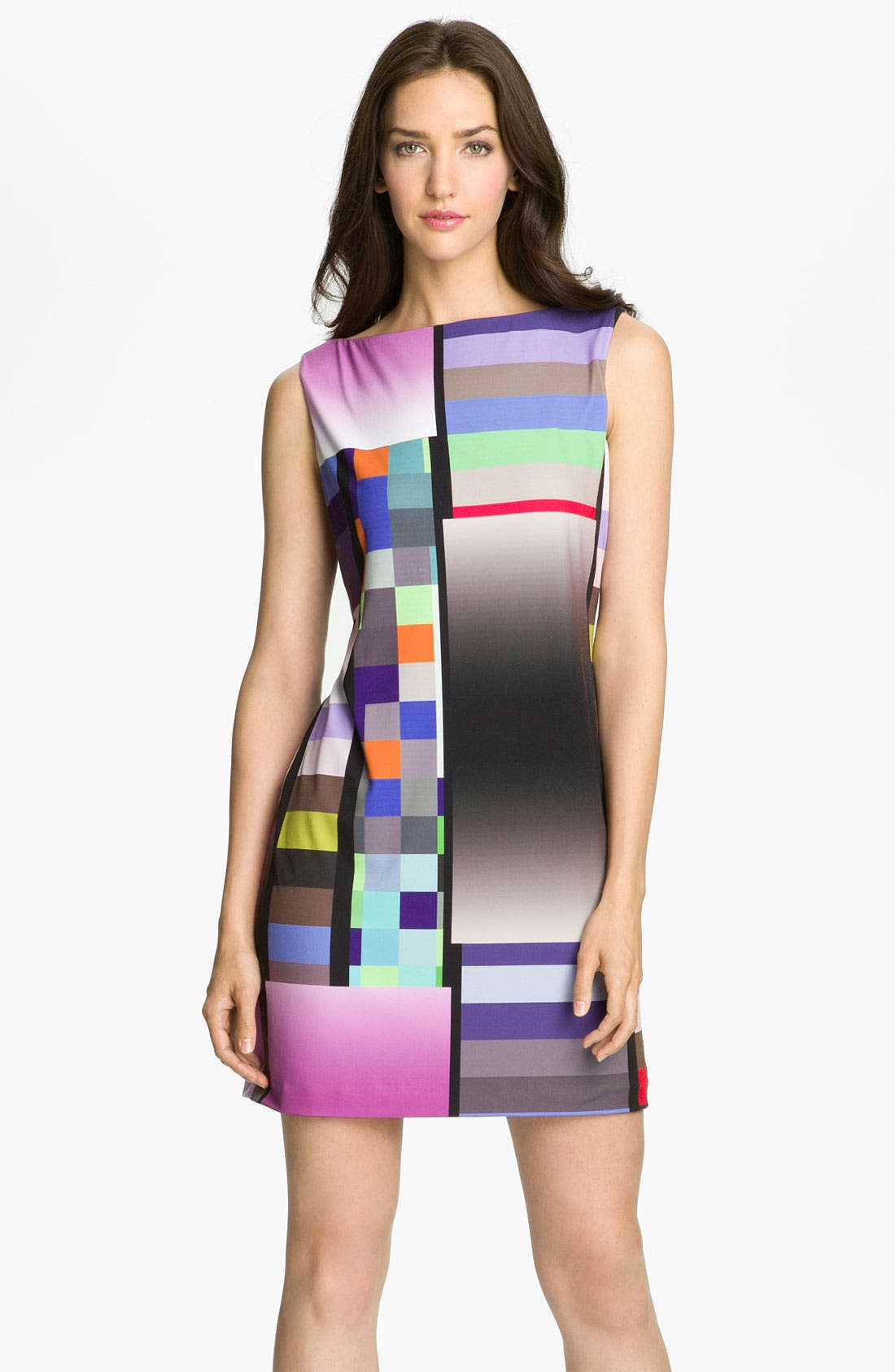 Alternate Image 1 Selected - Suzi Chin for Maggy Boutique Graphic Print Jersey Shift Dress